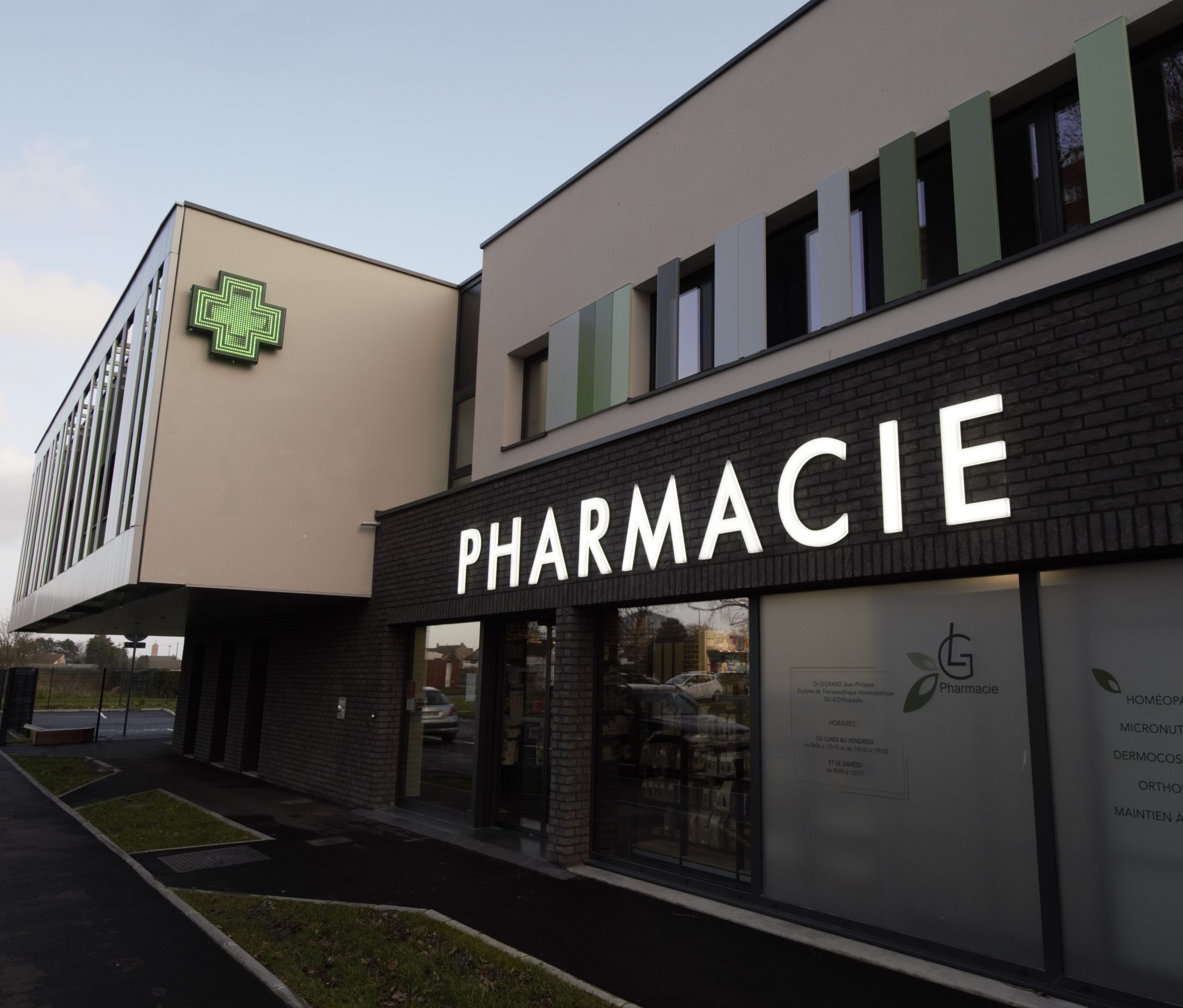 Agencement de pharmacie